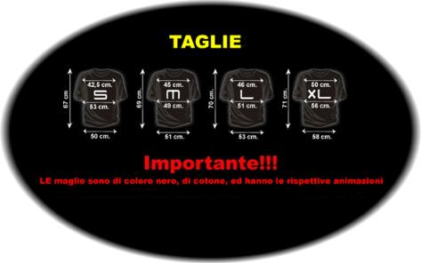TAGLIE MAGLIETTE LUMINOSE