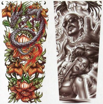 modello 2 maniche tatuaggio