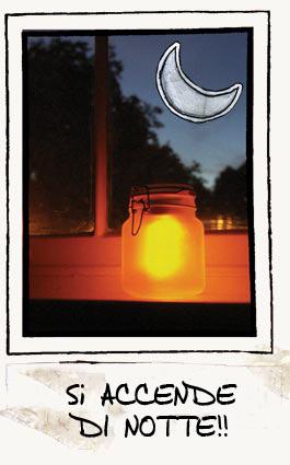 vaso solare notte