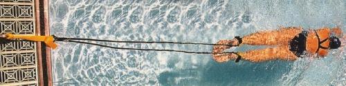 elastico allenamento nuoto attacco a bordo vasca