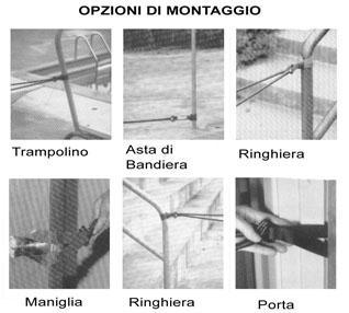 elastico allenamento a secco opzioni di montaggio